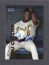1999 FLEER TRAD #392  Lou Collier PITTSBURGH PIRATES SIGNED AUTOGRAPH AUTO COA