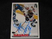 Chicago Blackhawks Denis Savard Auto 1995/96 Upper Deck UD Signed Card #132 JB10