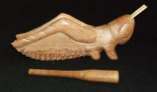 """7""""HAND MADE WOODEN CRICKET W/CHIRPING STICK/PERCUSSION INSTRUMENT/TOY-NEW"""