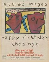 Altered Images '45 advert 1981
