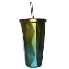 Thermal Coffee Mug Cup 500ml Stainless Steel Travel Drinking Tumbler Yellow