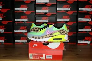 "Nike Air Max 90 ""Dancefloor"" Green Leopard Wmns Size 10W - Brand New- CW3499-300"