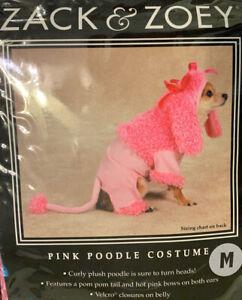 Zack & Zoey Pink Poodle Dog Halloween Costume NIP Sz Medium Fluffy Curly Plush
