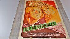 LES MISERABLES victor hugo !  Harry Baur  florelle affiche cinema 1934