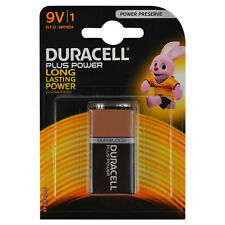 DURACELL PLUS POWER 9V BATTERY - DURALOCK LONG LASTING POWER NON RECHARGEABLE