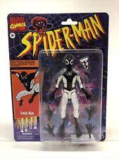 Marvel Legends Retro Spiderman Negative Zone Pizza Figure In Hand