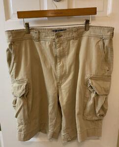 Polo Ralph Lauren Men 40 Cargo Shorts Khaki Tan PRL RL Military Utility Heavy