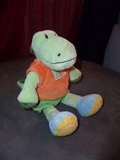 Doudou NICOTOY KIABI ma petite tribu crocodile vert 25 cm orange soleil