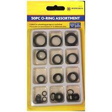 DIY O Rings Kit 50pcs Assorted Rubber Plumbing Air Gas Sealing Tap Threads
