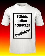 T-Shirt Folie Din A4 Transferfolie Bügelfolie Textildruck Folie für helle Stoffe