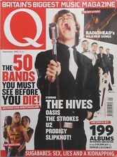 THE HIVES / OASIS / THE STROKES / U2 / PRODIGY / SLIPKNOT Sept. 2002 Q Magazine