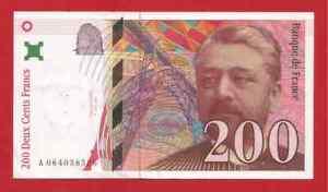 Billet 200 francs EIFFEL 1997