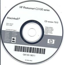 HP Photosmart C3100 series CD for Printer (ver 7.8.0) For MAC - 2006