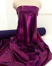 MYSTIQUE STRETCH SPANDEX FABRIC GARNET/PURPLE   BTY DANCE GYMNASTIC COSTUME