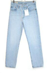 Womens Levis 501 High Rise Straight Leg Light Blue PREMIUM Jeans Size 8 W26 L28