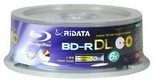 5 RIDATA 6X Blank Blu-Ray BD-R DL Dual Double Layer 50GB Inkjet Printable Disc