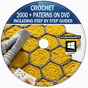Learn To Crochet Course & Lessons + 2000 Printable Crochet Patterns Guides - DVD