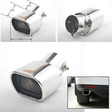 Car Exhaust Pipe Tail Muffler Tip Rear  Chrome Stainless Steel 63mm Square mouth