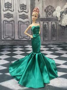 """Handmade Dress Outfit Gown fit only Barbie Model Muse Doll 12"""""""