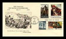DR JIM STAMPS US BATTLE BUNKER HILL COMBO UNSEALED FDC PATRIOT COVER