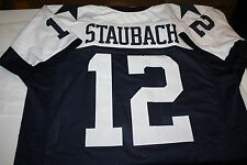 DALLAS COWBOYS #12 ROGER STAUBACH CUSTOM THANKSGIVING JERSEY SIZE LARGE HOF