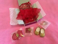 New American Girl Sparkly Jazz Dance Costume Tap Set Dancer Ballet Gorgeous Red
