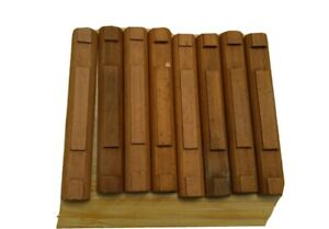 """Lincoln Logs 8 Flat 2 Notch 4 1/2""""  long Lot of 8 Additional Replacement Parts"""