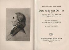 Eckermann: Gespräche mit Goethe (mit 9 Bildtafeln)   um 1925