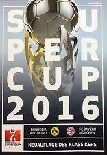 Programmheft - Supercup 2016 - BVB 09 / FC Bayern München - Matchday programme