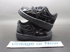 Nike Air Force 1 Low '07 Black Patent Leather 314194-098 sz 4C