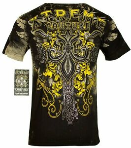 XTREME COUTURE by AFFLICTION Men's T-Shirt SALVATION Tattoo Biker MMA S-5XL