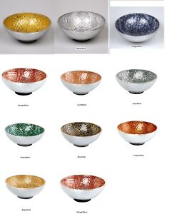 AUTHENTIC HANDCRAFTED POLISHED ALUMINUM NUT BOWL FROM INDIA RUBBER NO SKID BASE
