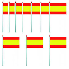 LOT DE 10 DRAPEAUX ESPAGNE - PAVILLON 10 X 15 CM