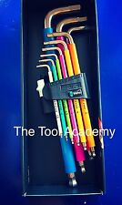 WERA TOOLS MULTI COLOURED HEX ALLEN KEY SET IN BOX 1.5mm > 10mm STAINLESS STEEL