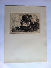 CAMILLE COROT Paysage d'Italie Gravure fac-similé XXème