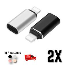 USB-C Type C Female to Lightning Male Adapter Data Charging Connector iphone