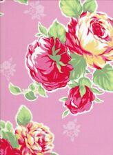 "34"" Remnant Cottage Shabby Chic Lecien Flower Sugar Pink Large Floral Bouquet"