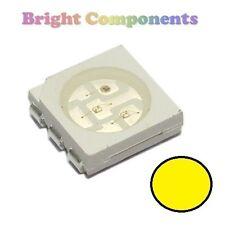 10 X Amarillo PLCC-6 LED (Smd Smt 5050) - Ultra Brillante-Uk - 1st Class Post