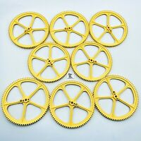 "8 Knex Large Big Yellow 5"" inch Crown Gears - K'nex Replacement Parts Lot"