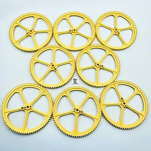 """8 Knex Large Big Yellow 5"""" inch Crown Gears - K'nex Replacement Parts Lot"""