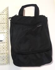 LL BEAN Hanging Toiletry Travel Bag Black with removable shower tote and mirror