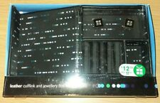 Mens Leather cufflink box with cufflinks BNWT