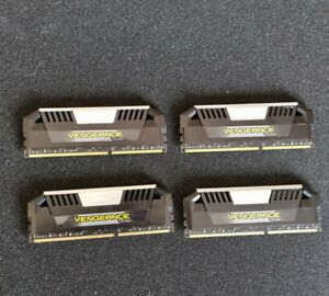 Corsair Vengeance Pro 32GB (4 x 8GB) 1866C9 kit silver heatsinks. Like new