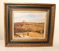 Vintage R. Emmett Owen farm land landscape abstract expressionism oil painting
