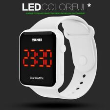 New Fashion Women LED Backlight Date Quartz Sport Digital Wrist Watch Waterproof