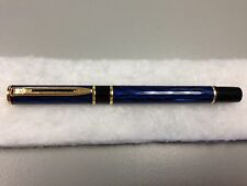 WATERMAN LAUREAT SHADOWED   BLUE FOUNTAIN PEN  MEEDIUM POINT NEW IN BOX