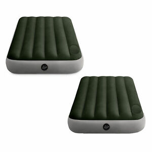 Intex Dura-Beam Standard Downy Airbed w/ Built-In Foot Pump, Twin Size (2 Pack)