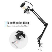 Adjustable Microphone Suspension Boom Arm Stand w/Shock Mount f/Broadcast Studio