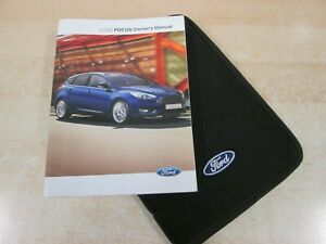 FORD FOCUS  OWNERS MANUAL -OWNERS HANDBOOK 2015-2018  COVERS AUDIO REF R21=