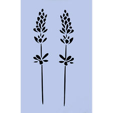 Plantilla De Flores De Lavanda 297x189mm signo Reutilizables Aerógrafo Spray Pared Craft 022